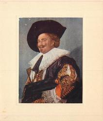 no front title, LAUGHING CAVALIER (inside left) portrait of man facing left & looking front