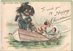 """GOLLIWOGG"" GOES CRABBING   opt.TO WISH YOU  A HAPPY CHRISTMAS"
