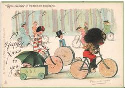 """GOLLIWOGG""  IN THE BOIS DE BOULOGNE   opt.  A HAPPY CHRISTMAS TO YOU"