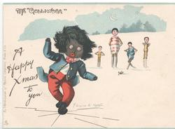 "THE ""GOLLIWOGG""  A HAPPY CHRISTMAS  TO YOU"
