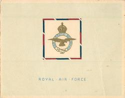 ROYAL AIR FORCE (front) --  HABBANIYA, BRITISH FORCES IN IRAQ (inside)