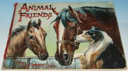 ANIMAL FRIENDS horse, colt and collie dog