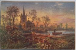 STRATFORD-ON-AVON CHURCH (FROM OLD UNUSED LOCK)