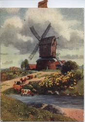 THE OLD MILL (title on reverse) windmill