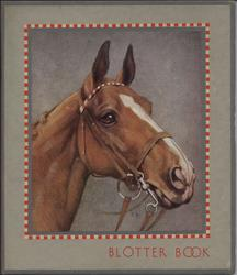 BLOTTER BOOK horse head with bridle on