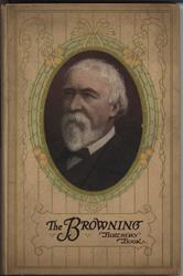 THE BROWNING BIRTHDAY BOOK oval portrait with decorative lines to cover