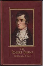 THE ROBERT BURNS BIRTHDAY BOOK square portrait with red covers