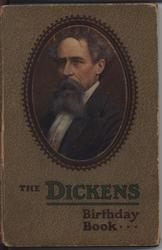 THE DICKENS BIRTHDAY BOOK oval portrait with brown patterned covers
