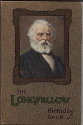THE LONGFELLOW BIRTHDAY BOOK square portrait with patterned brown covers