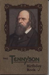 THE TENNYSON BIRTHDAY BOOK square portrait in decorative frame and patterned covers