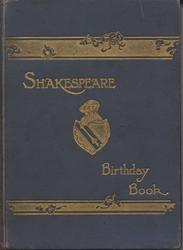 SHAKESPEARE BIRTHDAY BOOK blue cloth covers with decorative gold gilt letters and lines