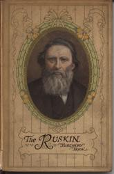 THE RUSKIN BIRTHDAY BOOK oval portrait with decorative frame and lines on cover