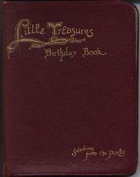 LITTLE TREASURES BIRTHDAY BOOK SELECTIONS FROM THE POETS red leather covers with gold gilt letters