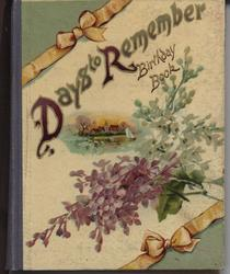 DAYS TO REMEMBER BIRTHDAY BOOK flowers, scene, blue cloth spine
