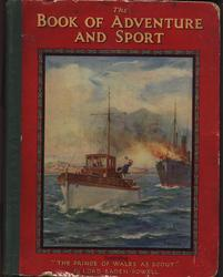 THE BOOK OF ADVENTURE AND SPORT red pictorial covers with green cloth spine