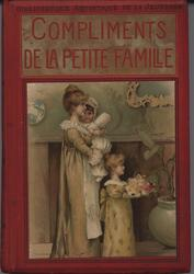 COMPLIMENTS DE LA PETITE FAMILLE red covers with gold accents,