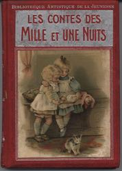 LES CONTES DES MILLE ET UNE NUITS red covers with silver accents,