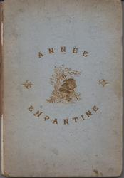 ANNEE ENFANTINE blue covers with gold accents