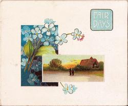 FAIR DAYS rural inset as well as inset of forget-me-nots
