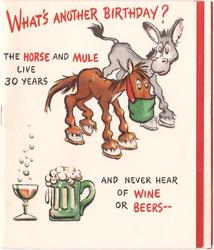 WHAT'S ANOTHER BIRTHDAY? THE HORSE AND MULE LIVE 30 YEARS ... horse, mule wine & beer
