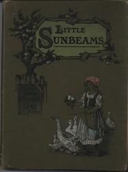LITTLE SUNBEAMS, girl with geese, green cloth boards