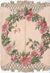wild roses in wreath, no words on cover