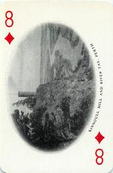 8 of Diamonds KINNOULL HILL AND RIVER TAY, PERTH