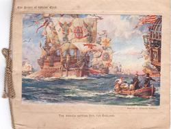 THE PRINCE OF WALE'S CARD -- THE ARMADA SETTING SAIL FOR ENGLAND