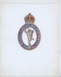 ROYAL CORPS OF SIGNALS on crest