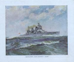 BATTLESHIP. -- KING GEORGE V. CLASS at sea steams right