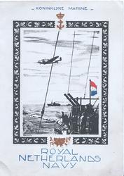 ROYAL NETHERLANDS NAVY below KONINKLYKE MARINE war ships & plane