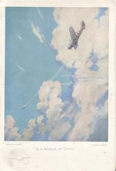 """""""IN A WORLD OF SPACE"""", COPYRIGHT """"FLIGHT""""  R.A.F. plane chases intruder"""