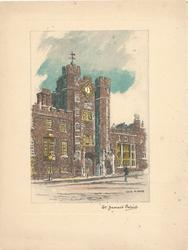 ST. JAMES'S PALACE, front view, inset, vertical