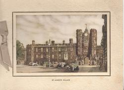 ST. JAMES'S PALACE, front view, inset horizontal