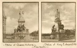 two insets  STATUE OF QUEEN VICTORIA/STATUE OF KING EDWARD VII