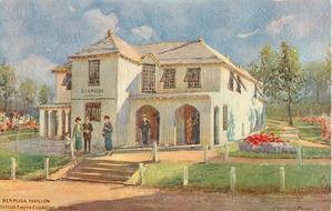 BERMUDA PAVILION  BRITISH EMPIRE EXHIBITION 1924-1925