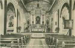 INTERIOR OF MAIN STREET R.C.CHURCH