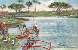 NATIVE BOATS AND FISHERMEN