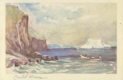 ANYWHERE ON THE COAST  cliffs left