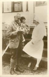 SIR WILFRED GRENFELL AND A LITTLE HOSPITAL PATIENT