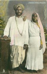 INDIAN TYPES man & wife
