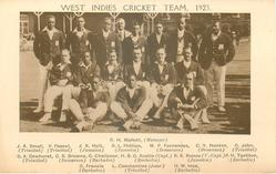 team image of manager & sixteen cricketers