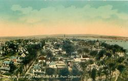 BIRDS-EYE VIEW OF FREDERICTON, N.B. FROM CATHEDRAL