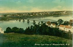 BIRDS-EYE VIEW OF WOODSTOCK, N.B