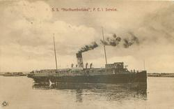 "S. S. ""NORTHUMBERLAND"",  P.E.I.SERVICE"