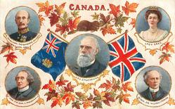 CANADA  four insets surrounding inset of LORD STRATHCONA, flags & maple leaves