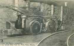 TEN TON ELECTRIC LOCOMOTIVE IN CANADA WEST COAL CO. MINE