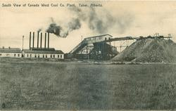 SOUTH VIEW OF CANADA WEST COAL CO. PLANT