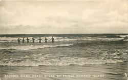 BATHING SCENE NORTH SHORE OF PRINCE EDWARD ISLAND