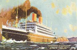 "S.S. ""EMPRESS OF SCOTLAND"" (CANADIAN PACIFIC RY.) ON THE ST. LAWRENCE"